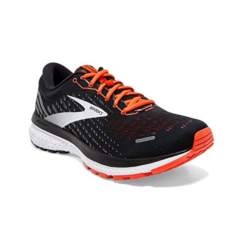 Brooks Herren Ghost 13 Laufschuh, Black Ebony Cherry Tomato, 43 EU