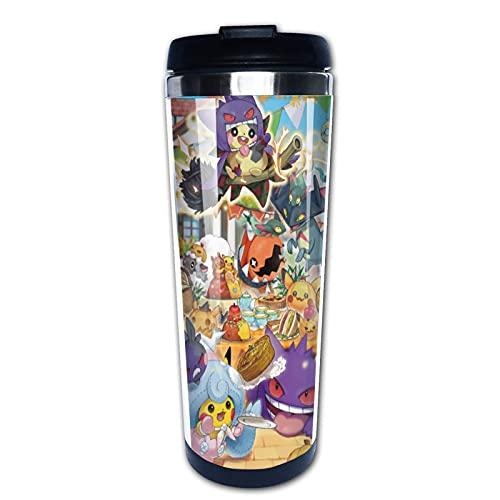 Taza de café de viaje Pokemon con aislamiento al vacío de doble cubierta
