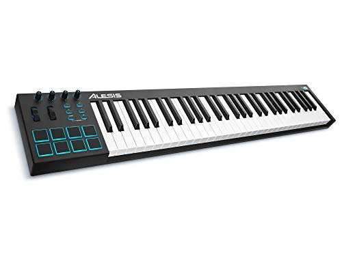 Alesis V61 | 61 Key USB MIDI Keyboard Controller with 8 Backlit Pads, 4 Assignable Knobs and Buttons, Plus a Professional Software Suite with ProTools | First Included (Renewed)