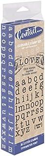 مجموعة طوابع أرجوانية قابلة للتوصيل من أنجل تاكر أمريكي كبير 36 قطعة من Contact USA، أزرق داكن