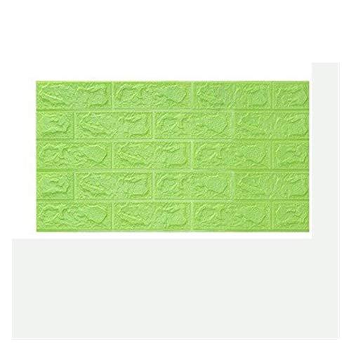 WHYBH HYCSP Wallpaper-Sicherheits-Ausgangsdekor-Tapete Brick Wohnzimmer Schlafzimmer-Dekoration-Aufkleber (Color : Green, Size : 70cmx38cm)