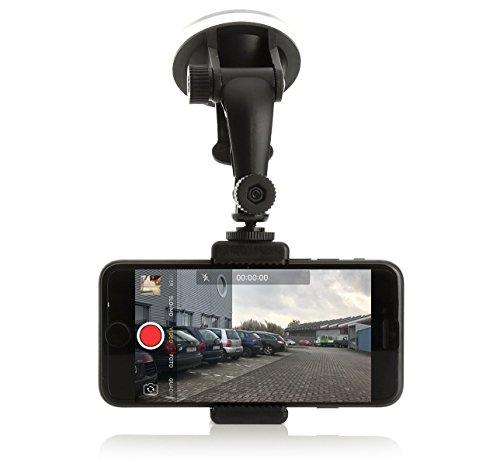 Wolffilms Dashcam Holder Halterung Autohalterung Mount KFZ-Zubehör kompatibel mit Apple Samsung Galaxy Huawei LG Sony Nokia UVM.
