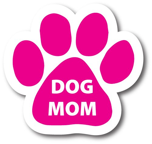 Magnet Me Up Dog Mom Pink Pawprint Car Magnet - 2x7 Paw Print Auto Truck Decal Magnet