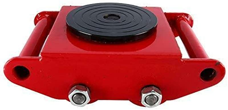 YaeTek Industrial Machinery Mover 13200 Lbs 6 Tons Machinery Skate Dolly With 4 Rollers Cap 360 Degree Rotation RED New