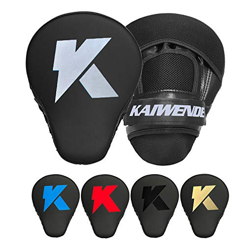 1 Pair Boxing Punching Mitts-Curved Kickboxing Muay Thai MMA Pad Training Target Punch Mitts Bags Fork Kids,Men &Women (Silver)