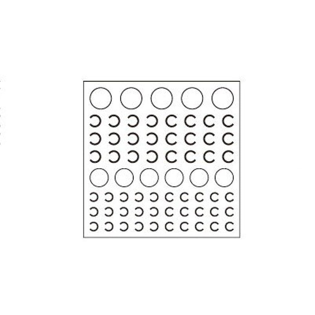 実験ゲージコースネイルシール カットシール ピアドラ pieadra ネイルシール ロゴタイプ C ブラック