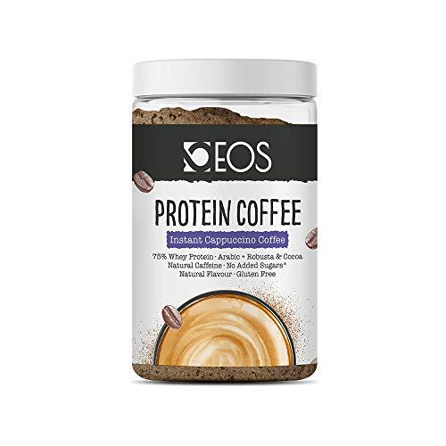 EOS - Café Proteico Cappuccino 150 g - Café con Proteína Whey y Cacao sin azúcar añadido y sin gluten