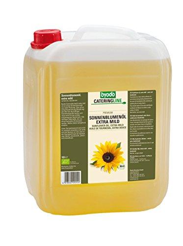 Byodo Sonnenblumenöl, desodoriert, extra mild, 1er Pack (1 x 10 l Dose) - Bio