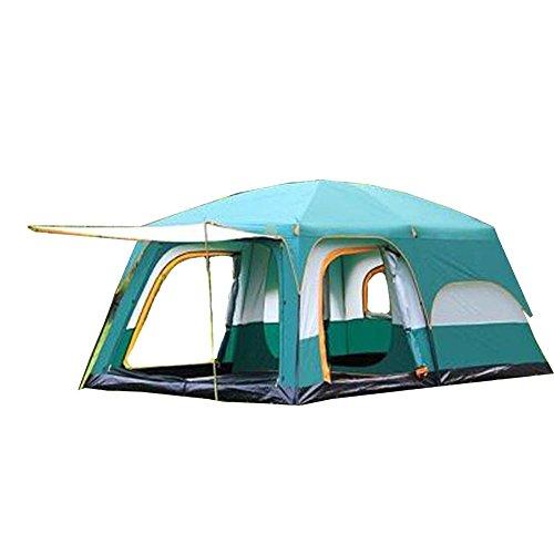 VATHJ Due Camere, Una Sala, Tenda, Campeggio All'Aperto, 6 Persone, 8 Persone, 10 Persone, 12 Persone, Due Camere, Una Sala, Tenda Antipioggia Multi-Persona