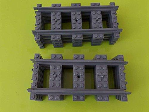 LEGO 8 x Gerade Schienen City Eisenbahn