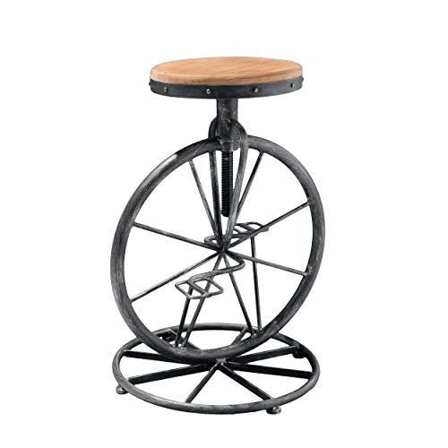 Christopher Knight Home Michaelo Bicycle Wheel Adjustable Barstool, Wood