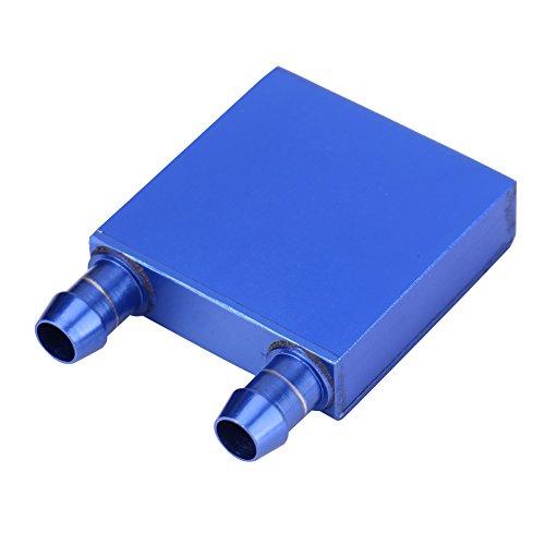 Richer-R Aluminium Wasserkühlblock, PC Wasserkühlungs Block Kühlkörper CPU Cooling Block 41 x 41 x 12mm für Computer CPU Grafikkarte Wasserkühlung Blau