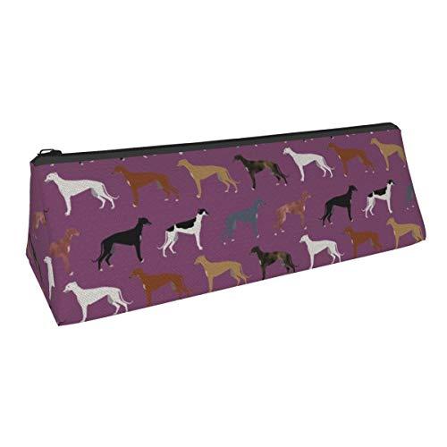 Niedliche Hunderasse bester Windhund, niedlicher Rettungshund, kleine Kapazität, dreieckiger Stifttasche, Aufbewahrungstasche für Jungen und Mädchen, College, Mittelschule und Bürobedarf, Schreibwaren