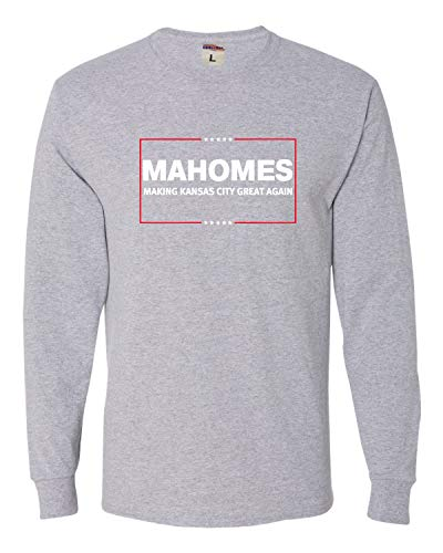 Go All Out X-Large Athletic Heather Adult Mahomes Making Kansas City Great Again Long Sleeve T-Shirt