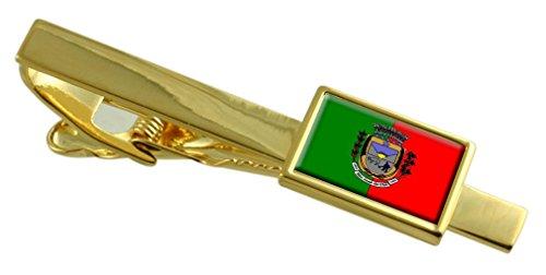 Select Gifts Sao Jose de Uba città Rio de Janeiro Bandiera dello stato Oro Clip inciso personalizzato