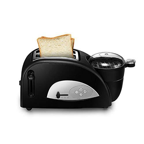 Tostadora de 2 rebanadas Tostadora de pan automática de calentamiento rápido Máquina de desayuno para el hogar Tostadora multifuncional con una sartén