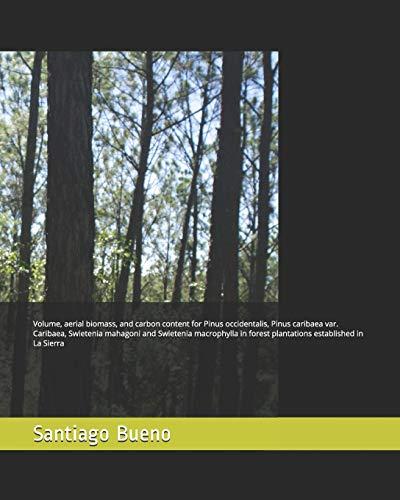 Volume, aerial biomass, and carbon content for Pinus occidentalis, Pinus caribaea var. Caribaea, Swietenia mahagoni and Swietenia macrophylla