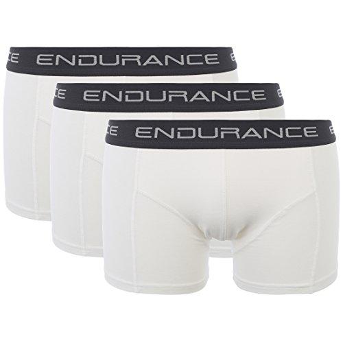 Ultrasport Endurance Herren Boxershorts Burke 3er-Pack, Weiß, XL