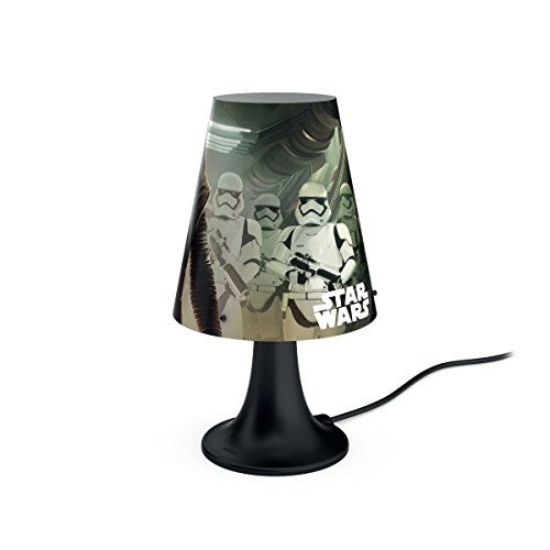 Philips Lámpara de mesa 7179530P0 - Luz nocturna para bebé (Independiente, Negro, Multicolor, Sintético, Mesa, Expresivo, Star Wars)