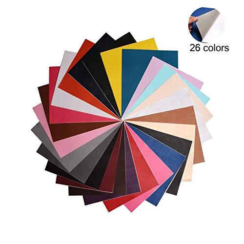 Parche de cuero PU de 20X25 cm Parches de reparación autoadhesivos para sofá Chaqueta de asiento de automóvil 10/15/26 colores. (26 color)