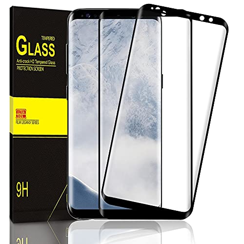 Zinking Panzerglas Schutzfolie Kompatibel mit Samsung Galaxy S8 [2 Stück], Volle Bedeckung, 9H Härte, Anti-Kratzen Displayschutzfolie, Anti-Bläschen, Wasser und ölbeständig Panzerglasfolie