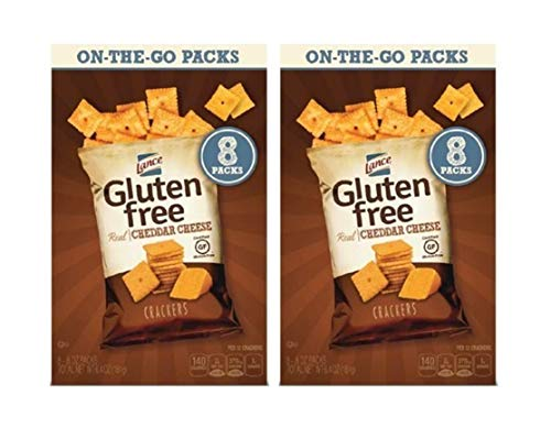Lance Gluten Free Cheddar Cheese on the go Packs 2 boxes of 8 packs each