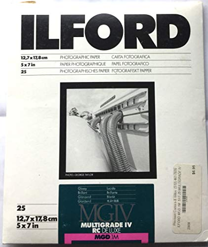 Ilford 1769881 Multigrade IV 1M 13X18 25 Sheets 13 x 18 cm Carta fotografica