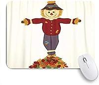 Yaoni ゲーミング マウスパッド,紅葉の山と幸せなかかし,マウスパッド レーザー&光学マウス対応 マウスパッド おしゃれ ゲームおよびオフィス用 滑り止め 防水 PC ラップトップ
