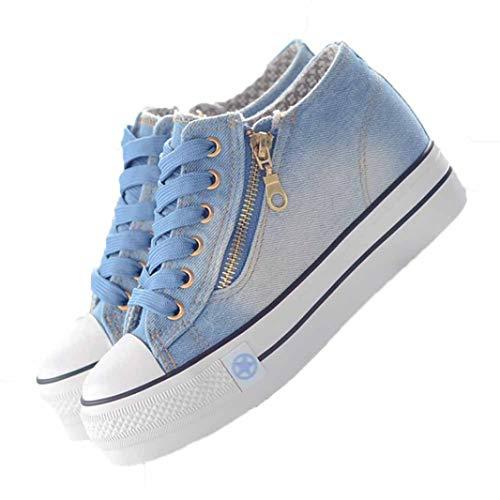 Damesschoenen Met Plateauzool Comfortabele Canvas Schoenen Effen Casual Verhoogde Interne Espadrilles Lage Dikke Dikke Sneakers