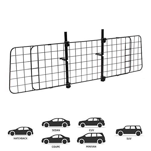 WilTec Reja de Perros para Coche Modelo D Rejilla separadora Reja protección Ajustable Universal Equipaje