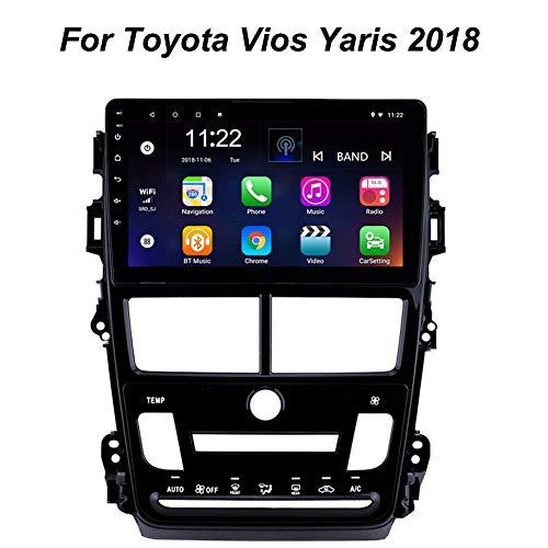 LFEWOZ Nav Sistema de navegación GPS con 9 Pulgadas de Pantalla táctil para Toyota Vios Yaris 2018 de Dispositivos Android navegación del Coche con Bluetooth Music 4g WiFi Soporte para SD 64g