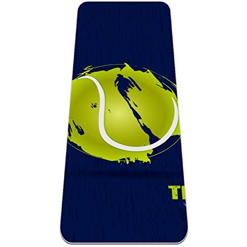 Esterilla Yoga Mat Antideslizante Profesional - Fondo de vector de tenis - Colchoneta Gruesa para Deportes - Gimnasia Pilates Fitness - Ecológica