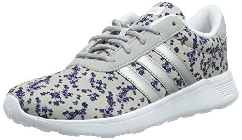 adidas NEO Damen Lite Racer Sneaker, Mehrfarbig (Clear Onix/Matte Silver/Light Orchid S15), 40 EU