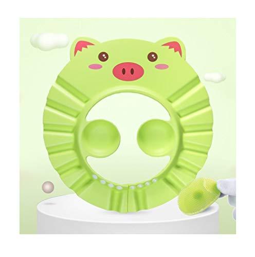 Baby Shampoo Artefakt waterdichte oorbeschermers shampoo pet, shampoo kind douchekapje groen