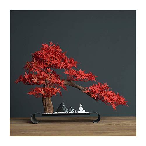 Bonsai Tree Simulación China Bonsai Faux Plants Bienvenido Decoración De Pino Porche Sala De Estar Hogar Hotel Oficina Mesa De Té Docorative,15,7 Pulgadas De Altura Decoración De Plantas Falsas