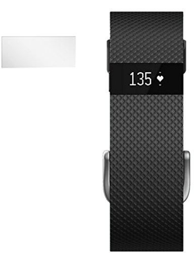 dipos I Schutzfolie klar kompatibel mit FitBit Charge / Charge HR Folie Bildschirmschutzfolie