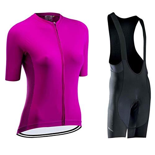 WPW Conjunto de Maillot de Ciclismo para Mujer, Regalos para El Día de La Madre, Ropa Transpirable de Secado Rápido de Manga Corta para Bicicleta de Carretera MTB para Montar