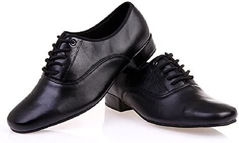 BeiBestCoat Men s Classic Lace up Leather Dance Shoes Modern Dancing Shoes Black 9 D M US product image