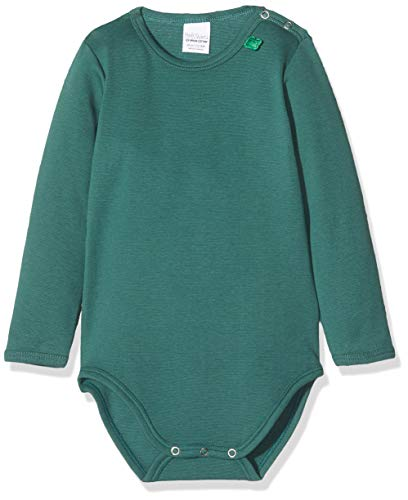 Fred's World by Green Cotton Baby-Jungen Star solid Formender Body, Grün (Dark Green 019451701), (Herstellergröße: 98)