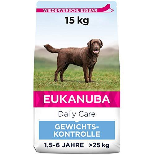 Eukanuba Daily Care Weight Control für große Rassen - Fettarmes Hundefutter zum Gewichtserhalt oder Diät bei Übergewicht, 15 kg
