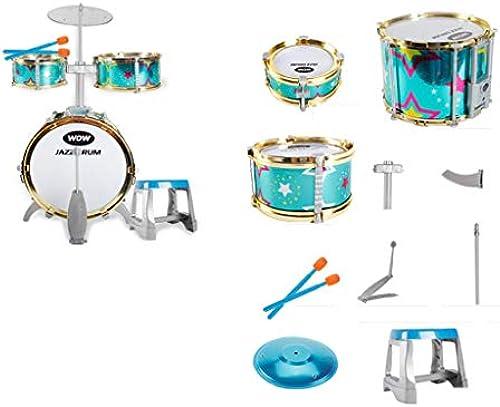LIPENG-TOY Kinderspielzeug Schlagzeug Anf er Spielzeug Musik Schlagzeug Schlagzeug 3-4-5-6-7-8 Jahre Alte Geschenke für Jungen Anf er (Farbe   Bronze)