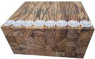 20 ~Dark Grains Around ~4 Sides~ Extremely Figured Bethlehem Olive Wood Pen Blanks
