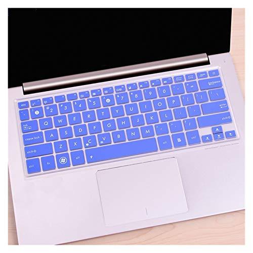 DJNCIA Flexible, Lavable, For ASUS 14 Pulgadas Zenbook UX410 U410UQ RX410 UX42 UX430 U4100 U4000UQ RX410 UX410UQ7200 Teclado de Silicona Cubierta de la Piel Protector Polvo Anti-Sucio (Color : Blue)