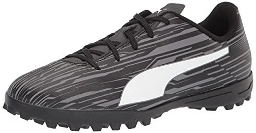 PUMA RAPIDO 3 TT Soccer Shoe, Black White-Castlerock, 5.5 US Unisex Big Kid