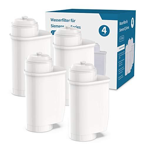 iTrunk Wasserfilter für Siemens EQ Series EQ6 EQ9 TZ70003, Filter Kompatibel mit Brita Intenza Wasserfilter Siemens Kaffeevollautomat TZ70033 Bosch TCZ7003 TCZ-7003 TCZ7033 (4er Pack)