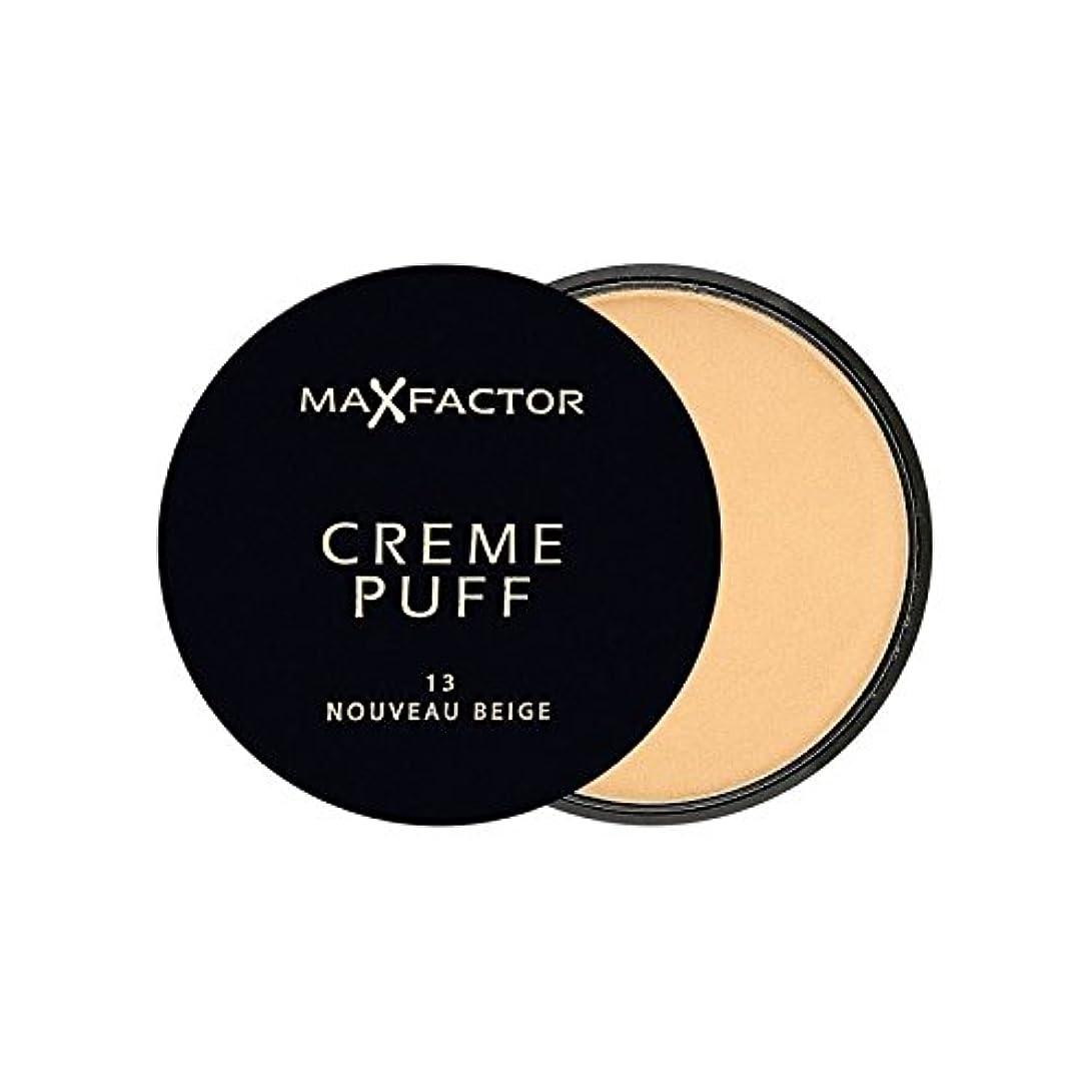 サーカス工夫する控えめなマックスファクタークリームパフ粉末コンパクトヌーボーベージュ13 x4 - Max Factor Creme Puff Powder Compact Nouveau Beige 13 (Pack of 4) [並行輸入品]