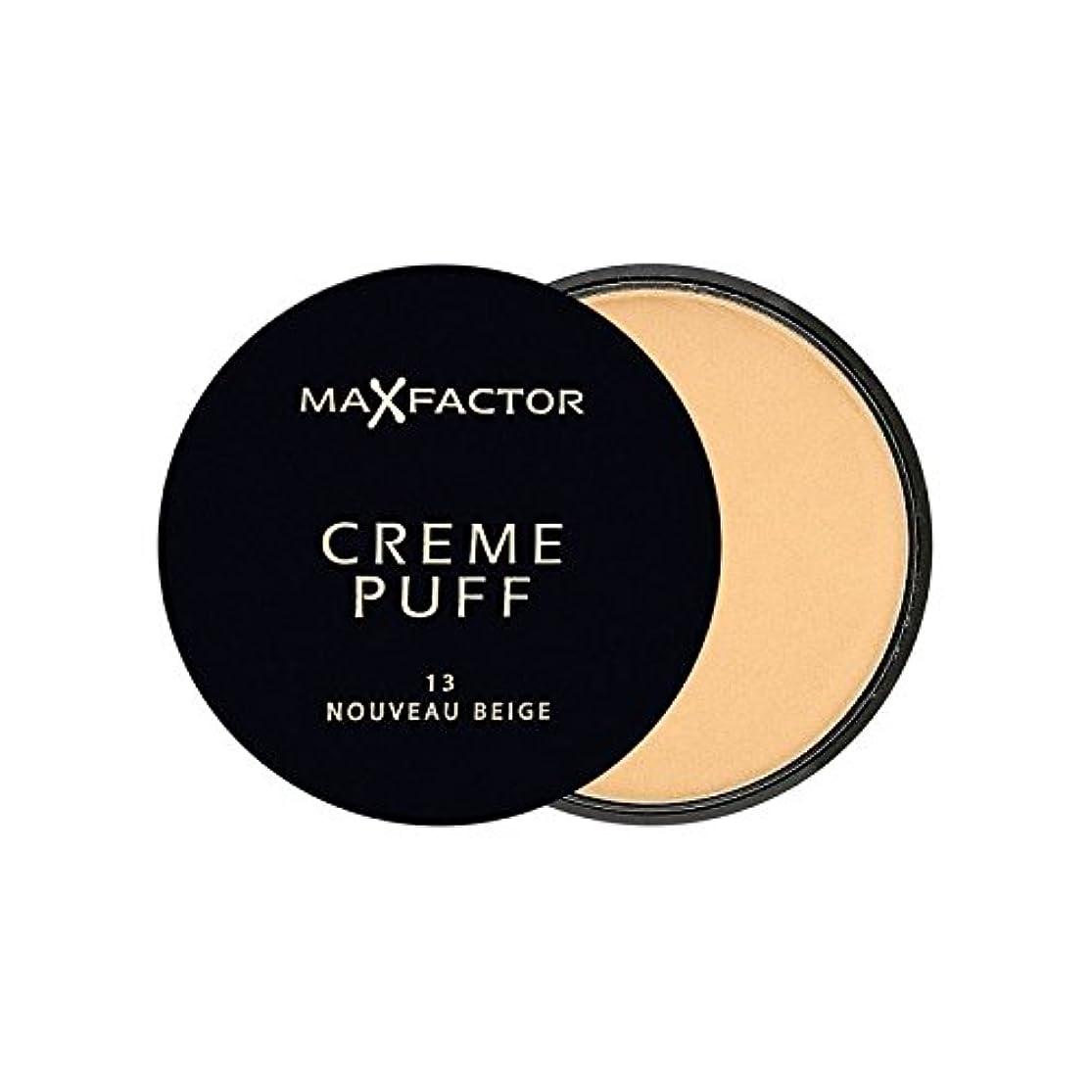 瞑想するずっと第四マックスファクタークリームパフ粉末コンパクトヌーボーベージュ13 x4 - Max Factor Creme Puff Powder Compact Nouveau Beige 13 (Pack of 4) [並行輸入品]