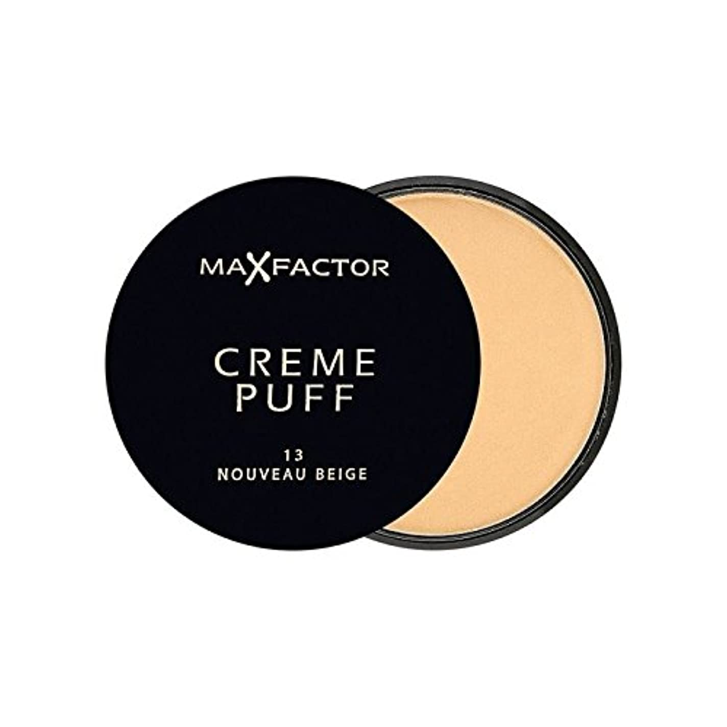 オーバーフロー面倒幻想マックスファクタークリームパフ粉末コンパクトヌーボーベージュ13 x4 - Max Factor Creme Puff Powder Compact Nouveau Beige 13 (Pack of 4) [並行輸入品]