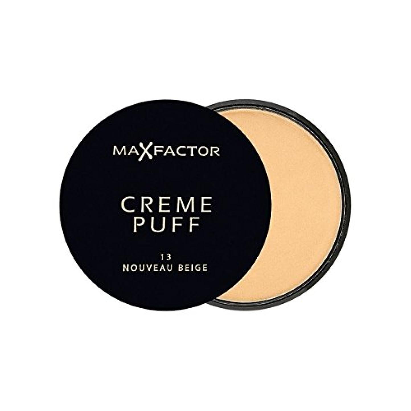 ビザ提供論文マックスファクタークリームパフ粉末コンパクトヌーボーベージュ13 x2 - Max Factor Creme Puff Powder Compact Nouveau Beige 13 (Pack of 2) [並行輸入品]