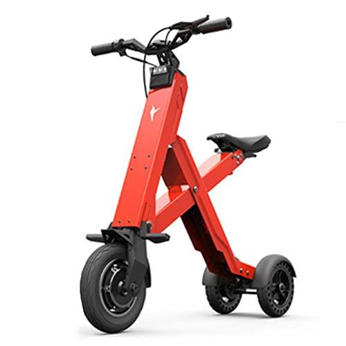 SMDD Scooter eléctrico de 36V, Scooters Plegables de 10 Pulgadas, vehículo de Alta Potencia de 300 vatios, 25 km/h ciclomotor, 6h de Carga de vehículos Mini, Triciclo Conveniente para Adultos